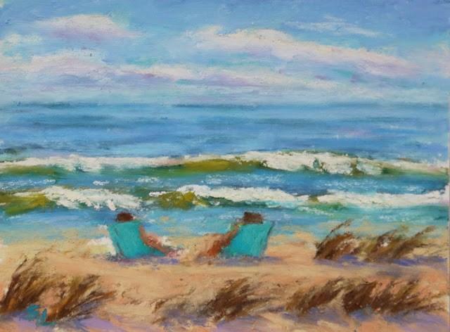 """""""Spring Break"""" original fine art by Sharon Lewis"""