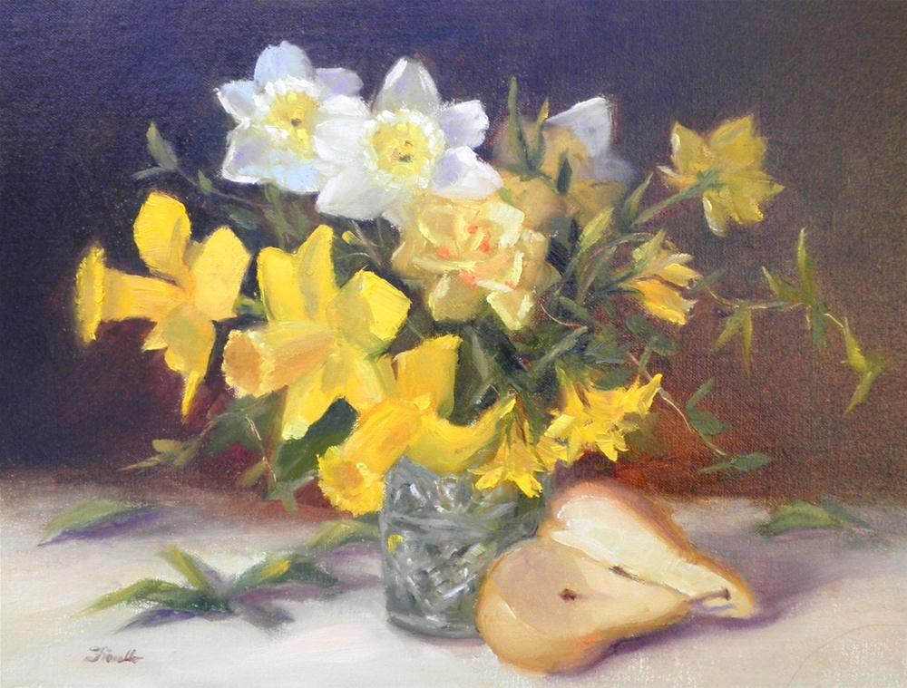 """""""Daffodil Days"""" original fine art by Pat Fiorello"""