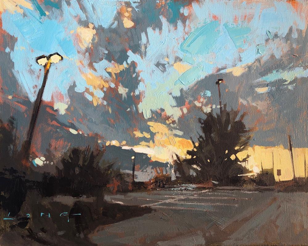 """Empty Lot"" original fine art by Christopher Long"