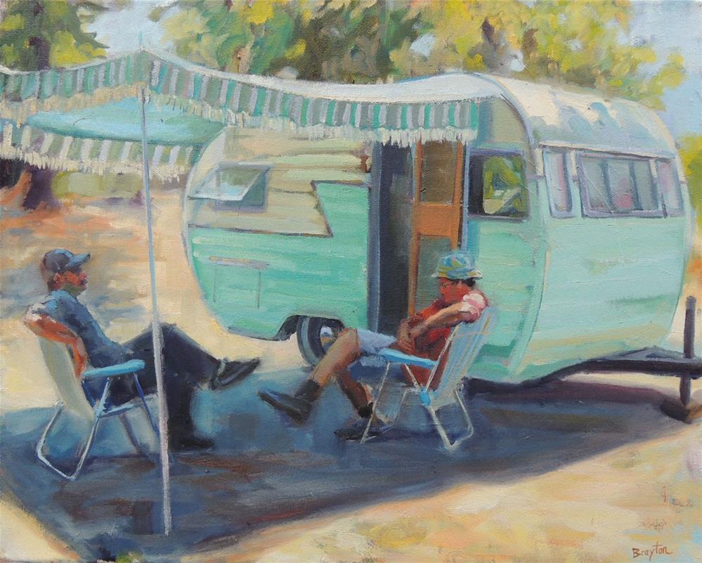 """""""Roughen It"""" original fine art by Wendy Brayton"""