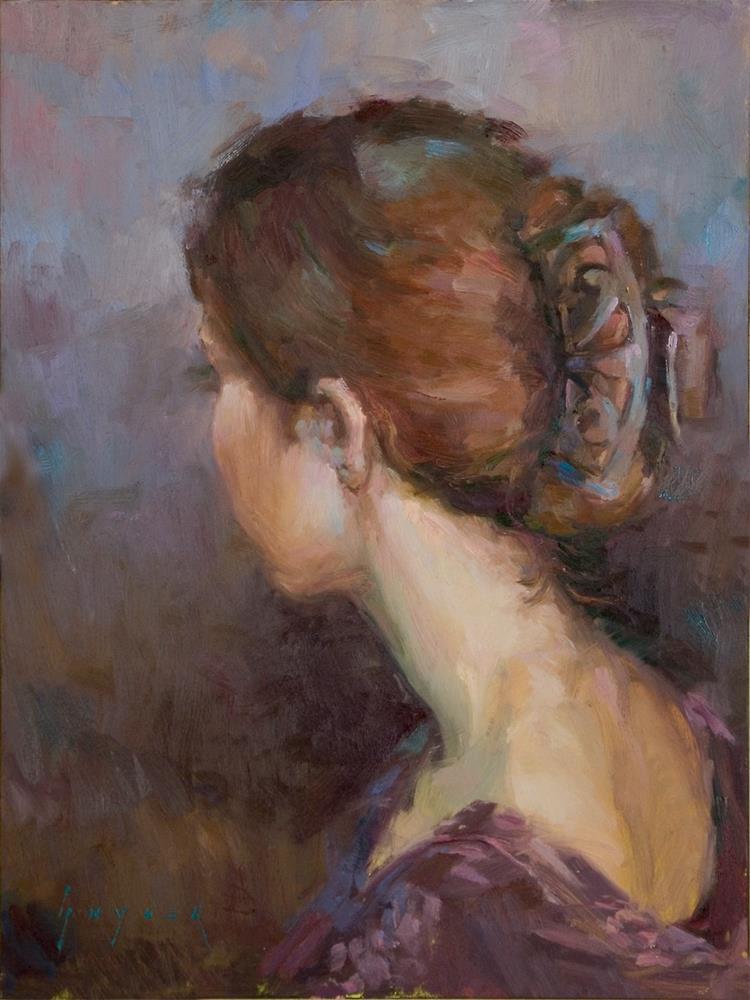 """""""Hair Clip"""" original fine art by Julie Snyder"""