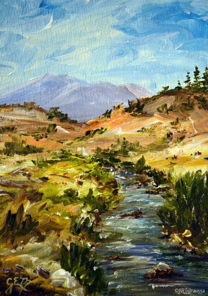 """California Hot Springs"" original fine art by Gloria Ester"