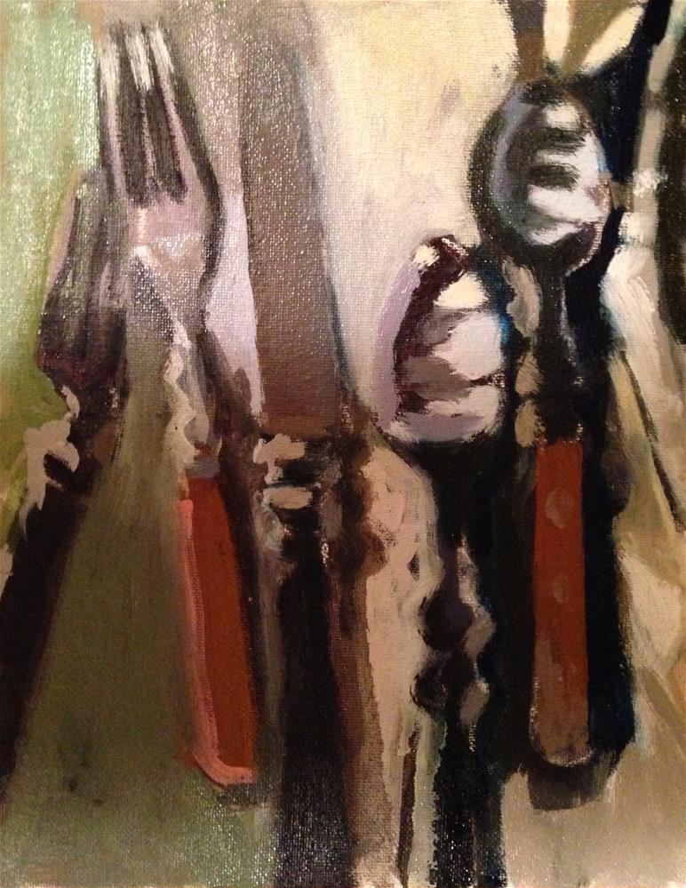 """Clean Cutlery"" original fine art by Pamela Hoffmeister"