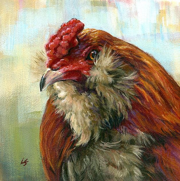 """Stare Down"" original fine art by Lesley Spanos"