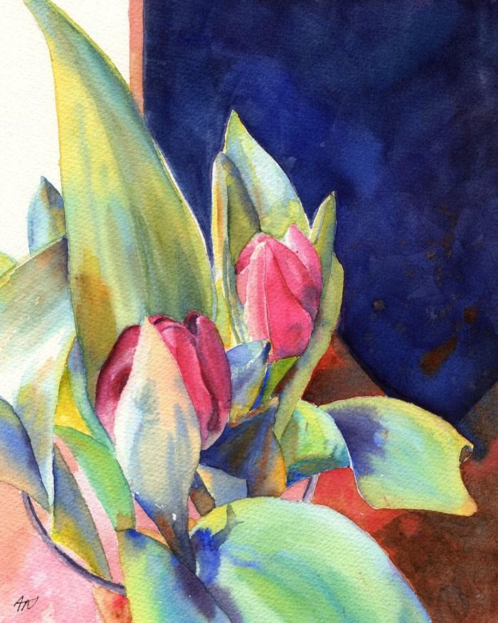 """Tulip Song"" original fine art by Ann Nemcosky"