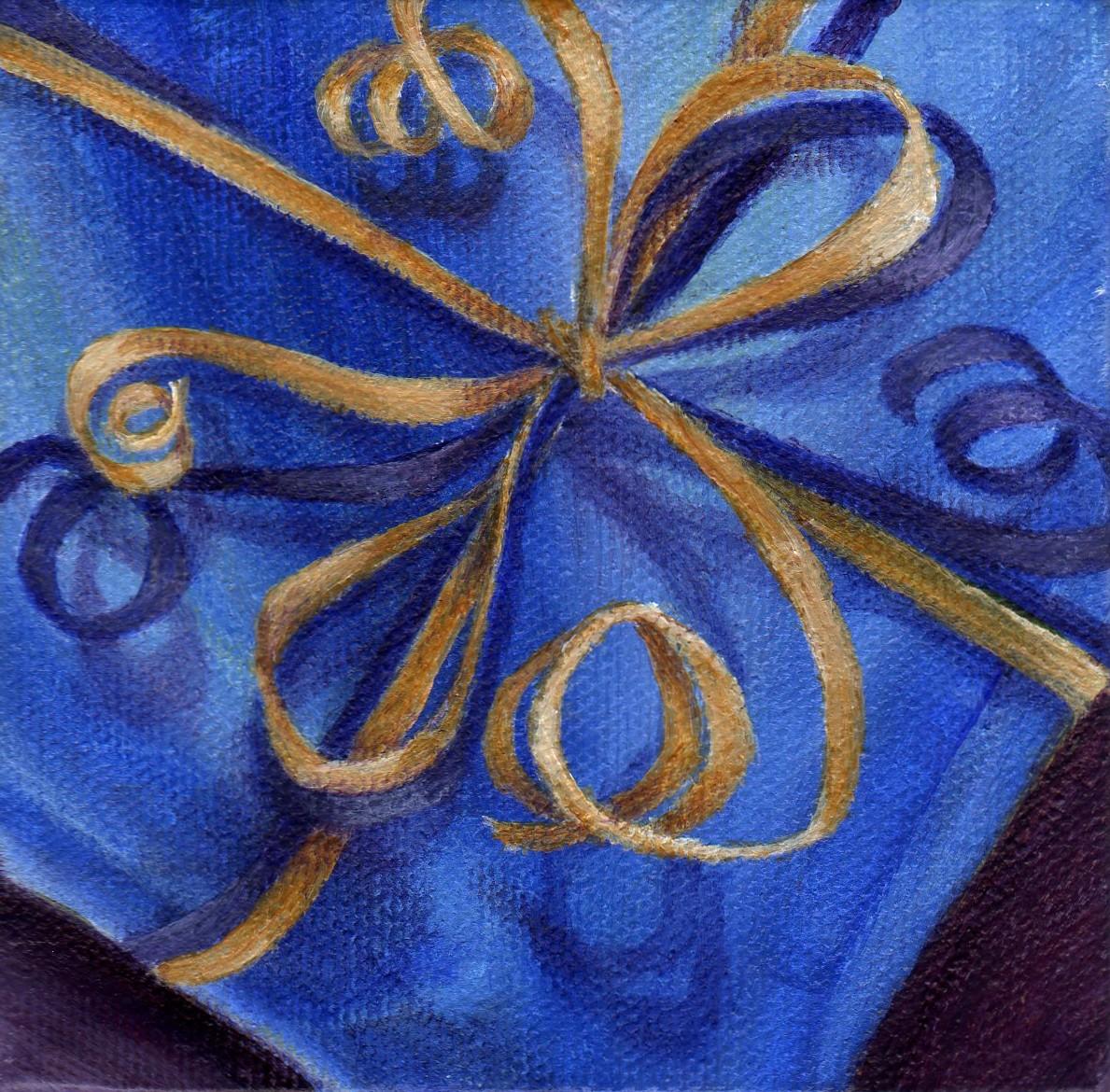 """The Gift"" original fine art by Debbie Shirley"