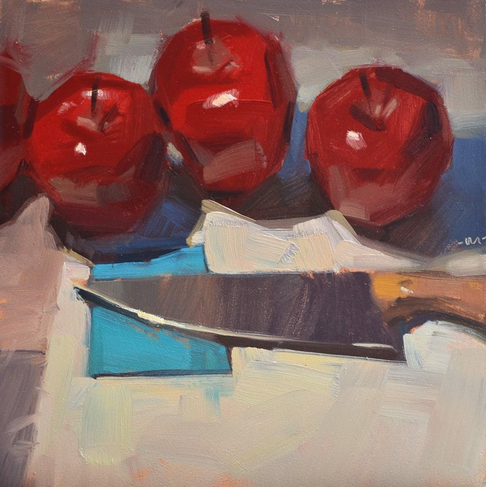 """At the Knife Museum"" original fine art by Carol Marine"