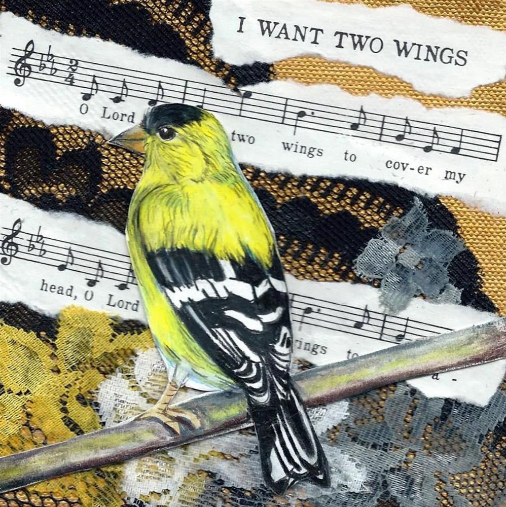 """""""I Want Two Wings"""" original fine art by Lisa Wiertel"""