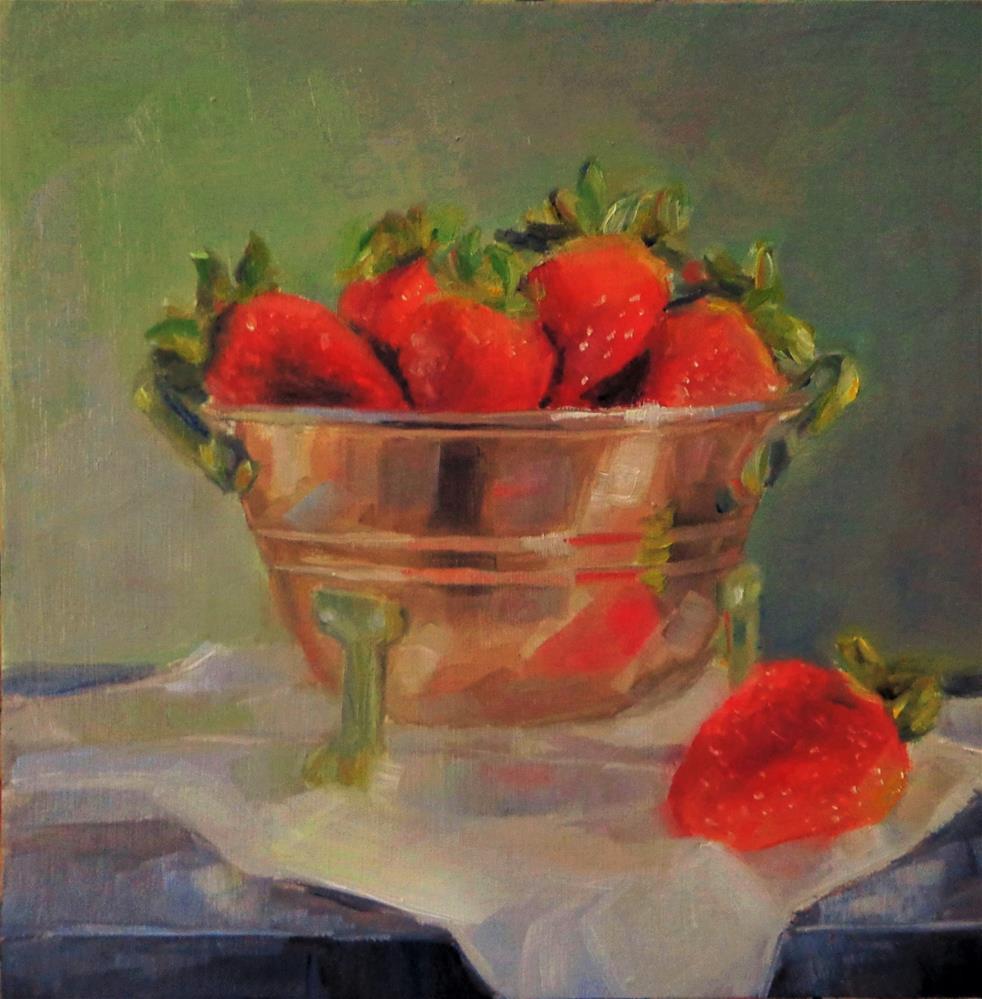 """Strawberries"" original fine art by Maria Z."