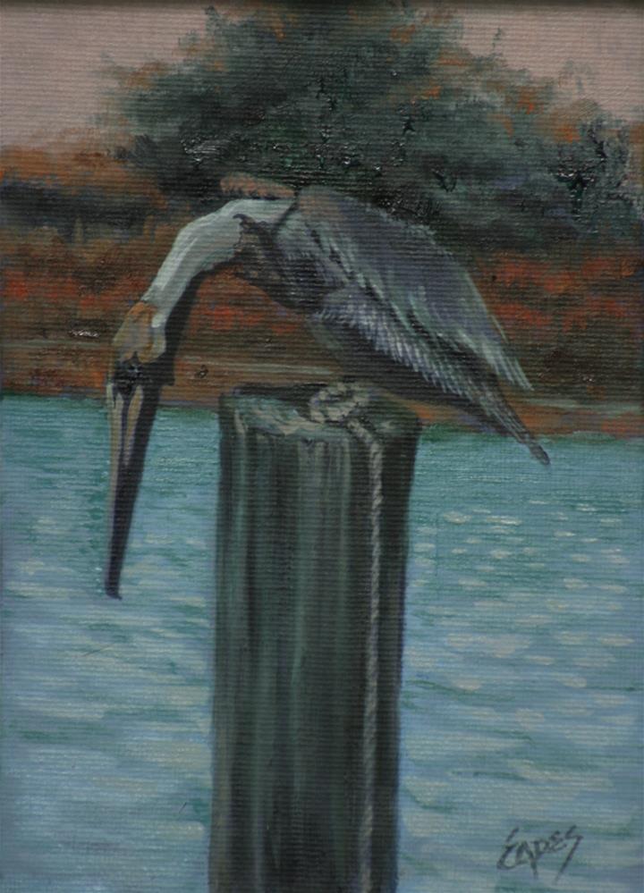 """Here Fishy"" original fine art by Linda Eades Blackburn"