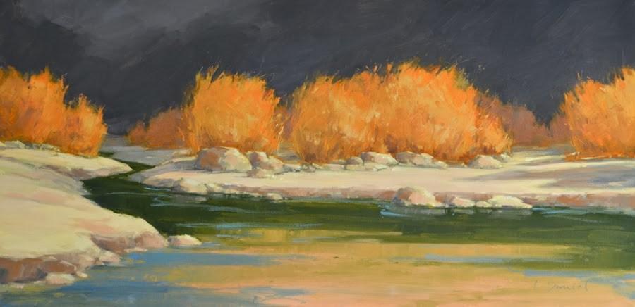"""Winter Grasses"" original fine art by Laurel Daniel"