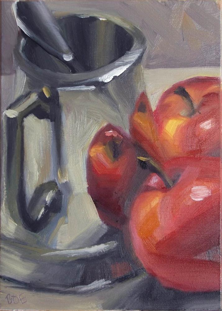 """""""Applestein"""" original fine art by Karen Boe"""