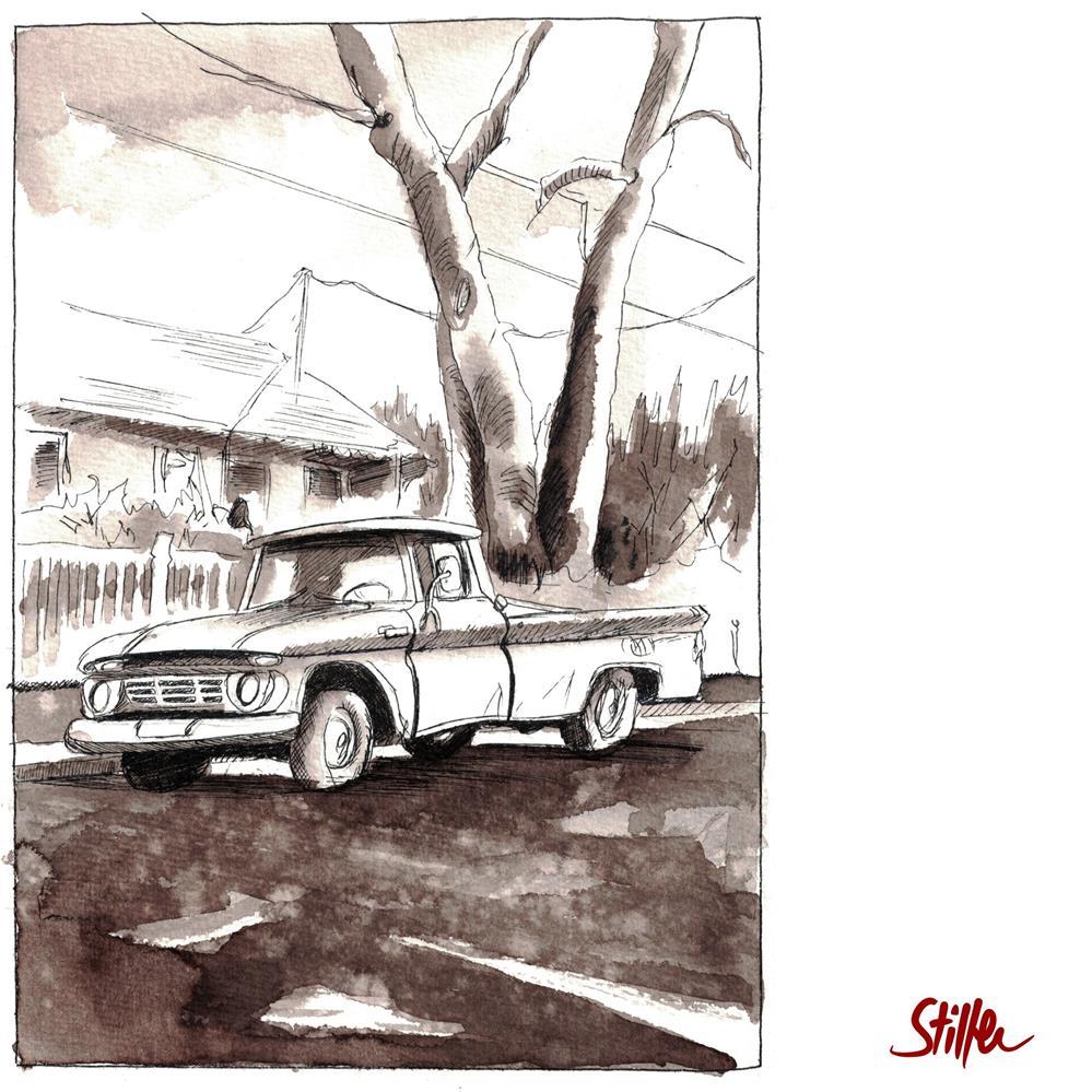 """""""3611 Pick Up Truck"""" original fine art by Dietmar Stiller"""