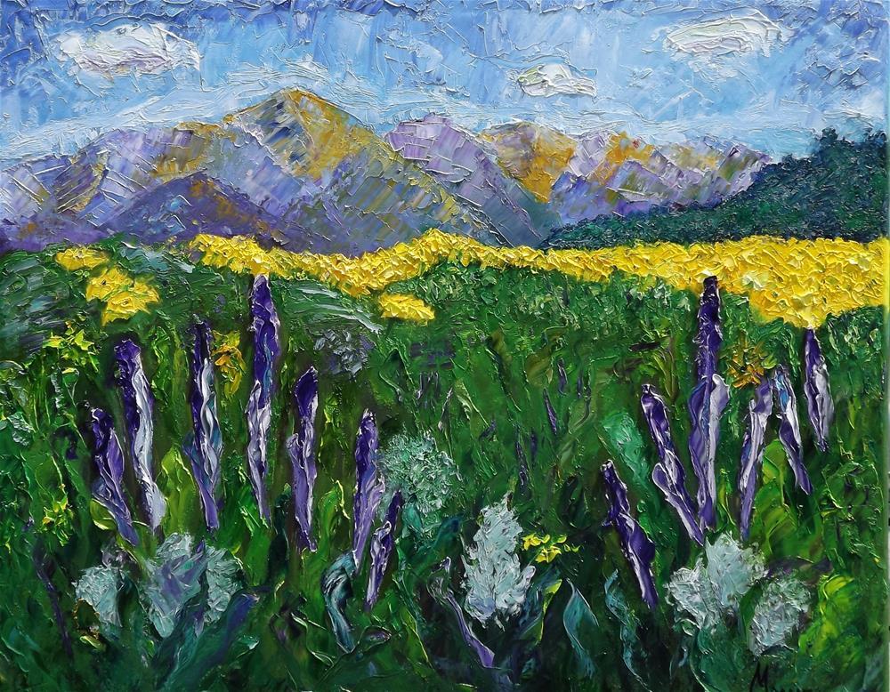 """Crested Butte Wildflower Festival"" original fine art by Linda mooney"