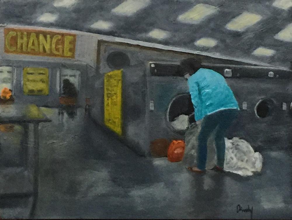 """""""Coin Laundry"""" original fine art by Stephanie Drawdy"""