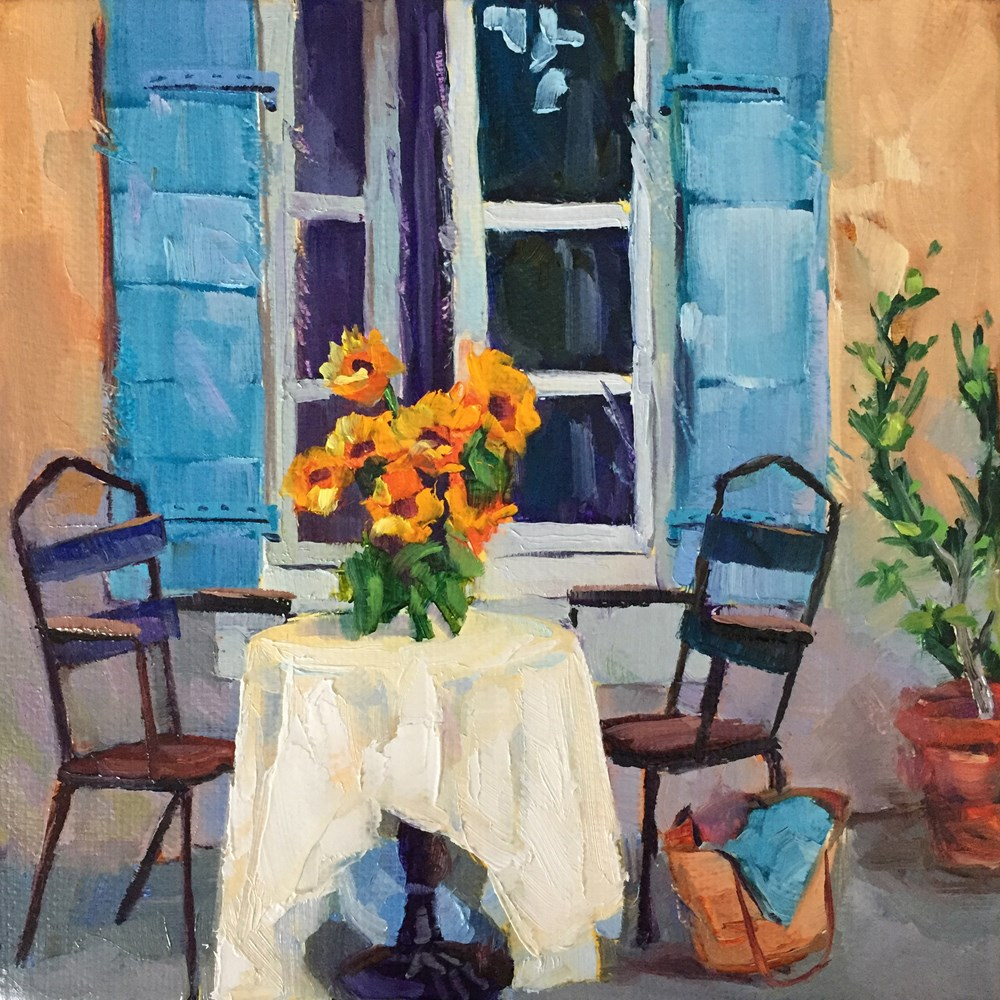 """Table for Two"" original fine art by Andrea Jeris"