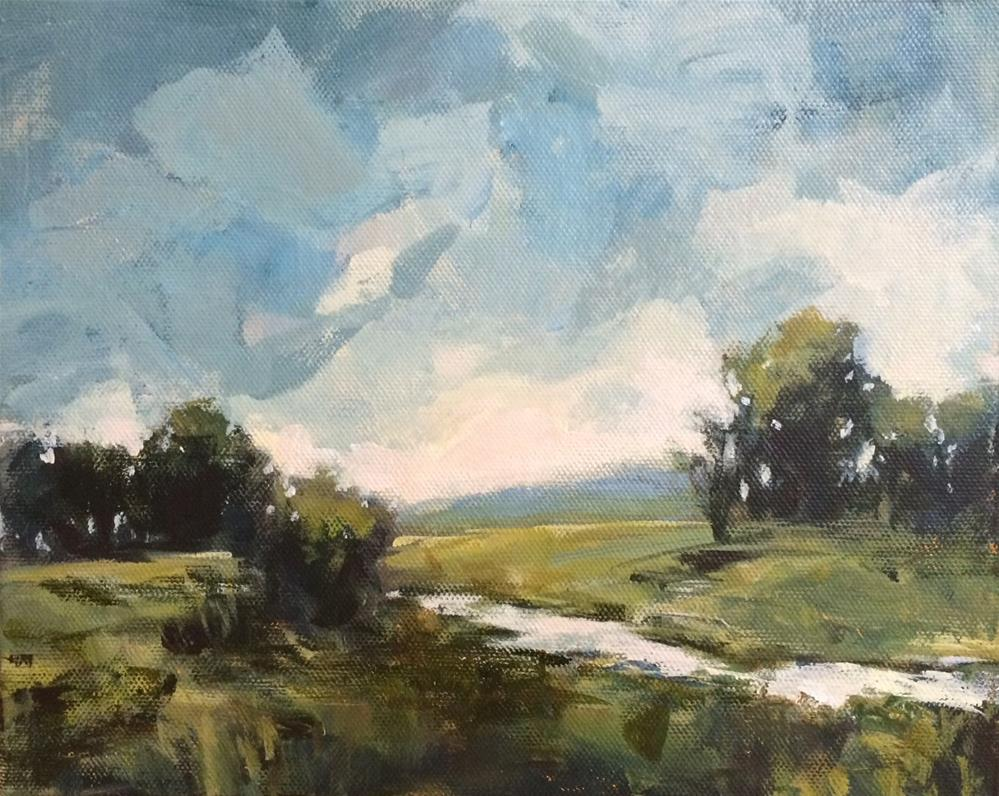 """""""Wednesday by the Marsh"""" original fine art by Shannon Bauer"""