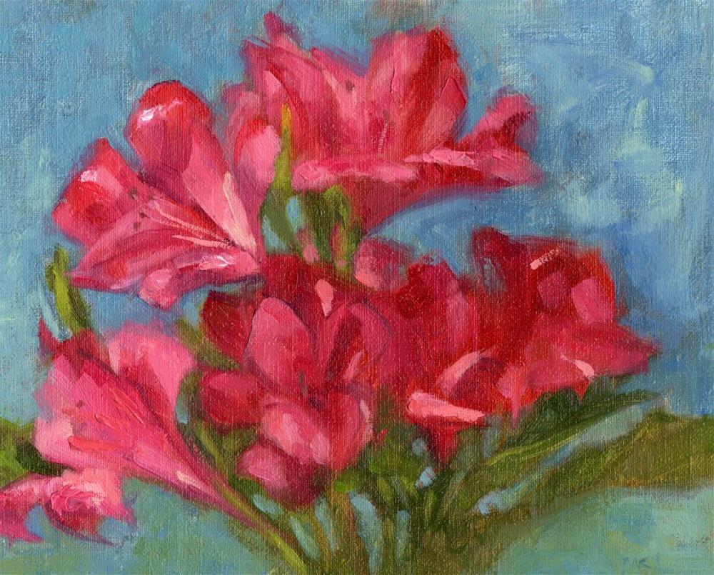 """Azaleas"" original fine art by Marlene Lee"