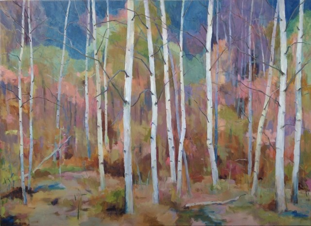 """""""Birch Grove"""" original fine art by Katie Wilson"""