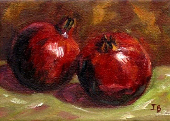 """Pomegranates"" original fine art by Irina Beskina"