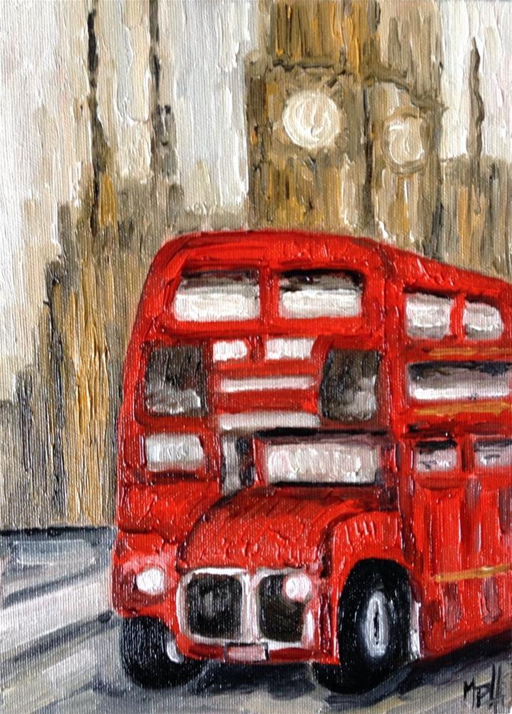 """The bus"" original fine art by Monica Pinotti"