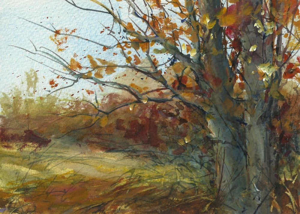 """Winter Winds are Blowing"" original fine art by Linda Henry"