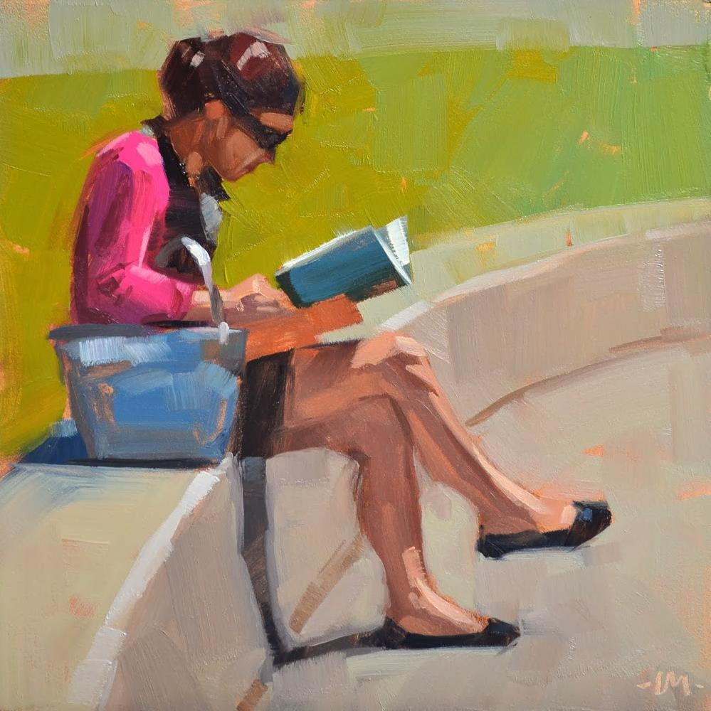 """Can't Put it Down"" original fine art by Carol Marine"