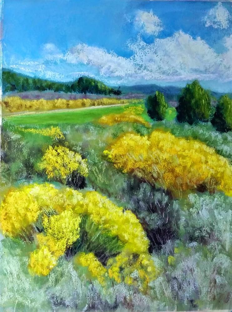 """""""September Rabbit Brush"""" original fine art by Anna Lisa Leal"""