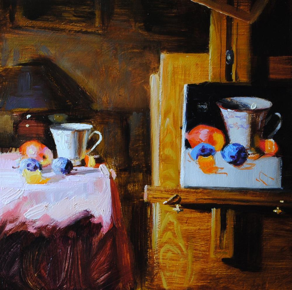 """""""Still Life Within a Still Life"""" original fine art by Elena Katsyura"""