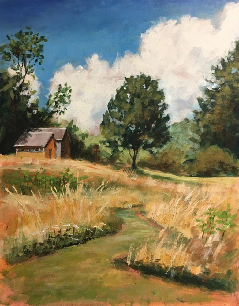 """Pathway to the Barn"" original fine art by Linda Marino"