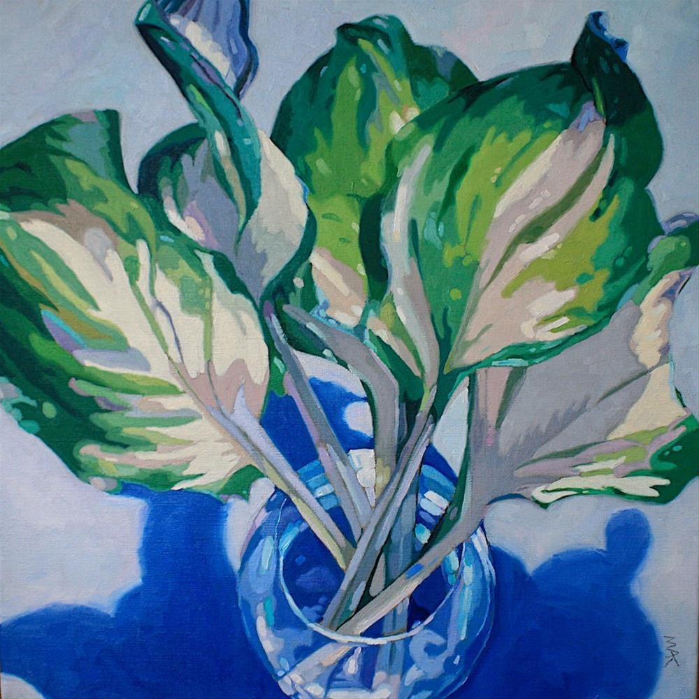 """Hosta"" original fine art by Mary Anne Cary"