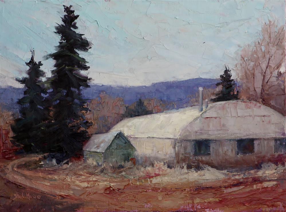 """Bear Creek Green House"" original fine art by Sheila Marie"