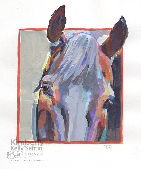 """PJ, an Equine Painted Sketch"" original fine art by Kimberly Santini"