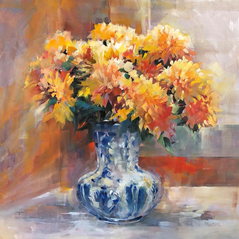 """Chrysanthemums"" original fine art by Barbara Benedetti Newton"