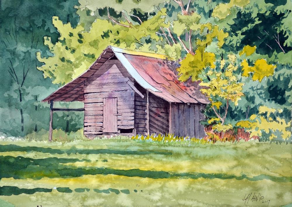 """The Shed"" original fine art by Jeff Atnip"