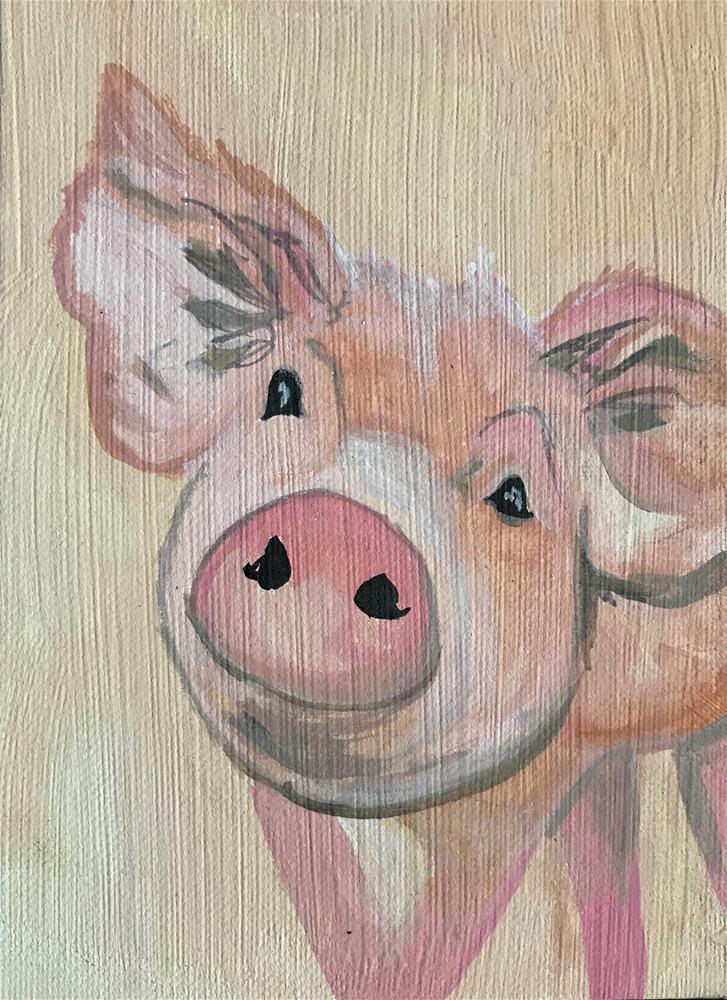 """Charlotte "" original fine art by Kathleen Carrier"