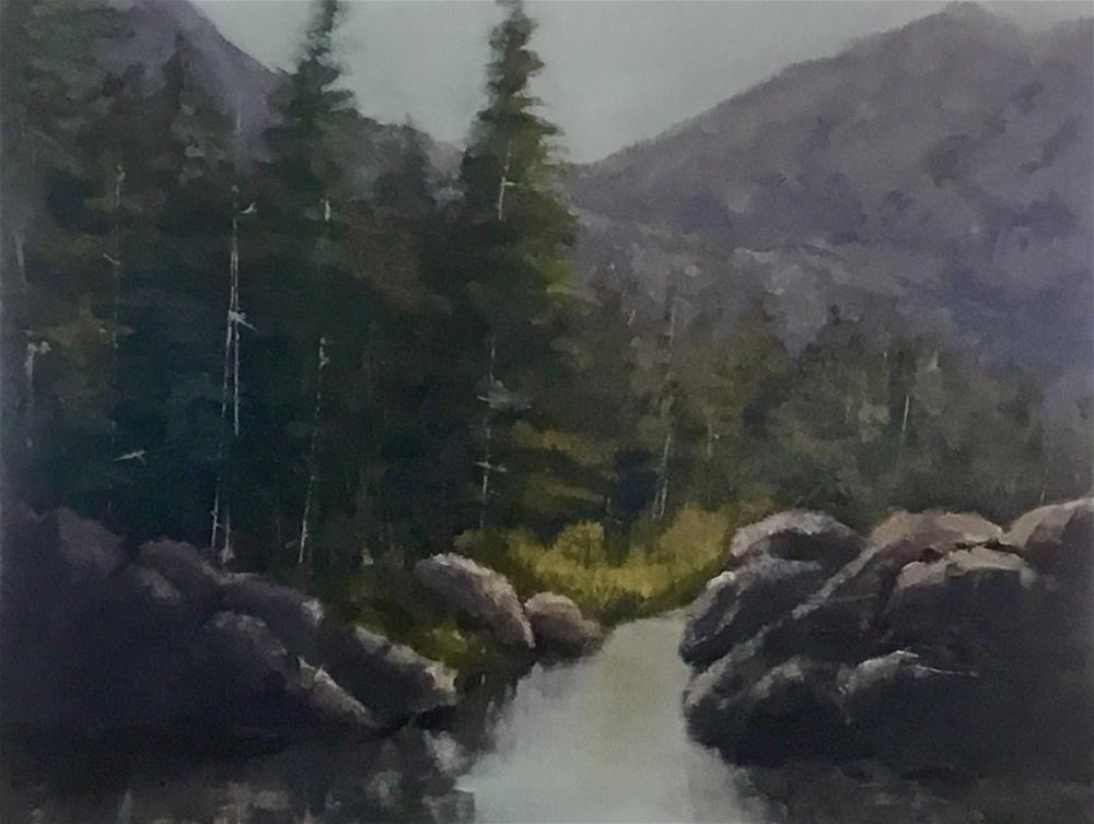 """Mountain river"" original fine art by Betty Argiros"