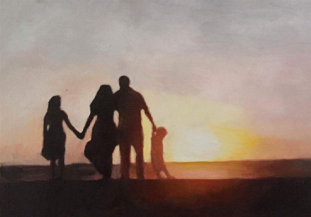 """Sunset"" original fine art by John Cameron"