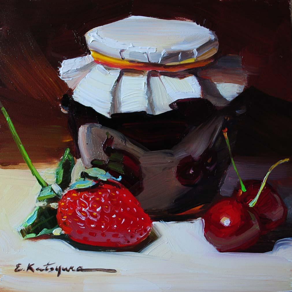 """Blackcurrant Jam"" original fine art by Elena Katsyura"