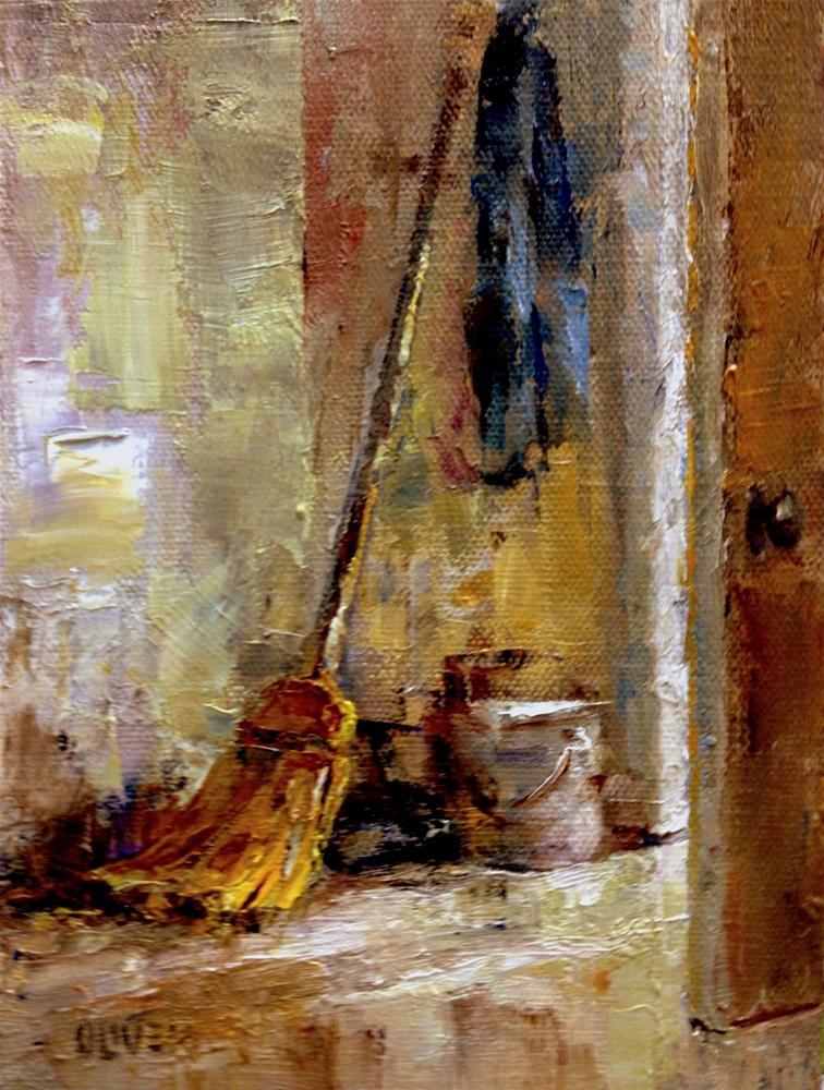 """""""Straw Broom"""" original fine art by Julie Ford Oliver"""