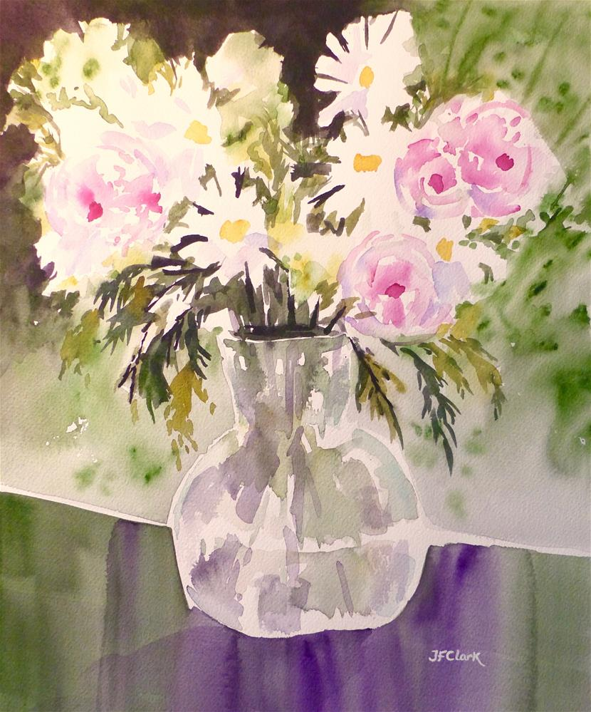 """April Flowers"" original fine art by Judith Freeman Clark"