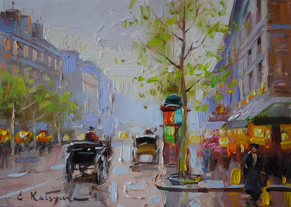 """Spring in Paris"" original fine art by Elena Katsyura"