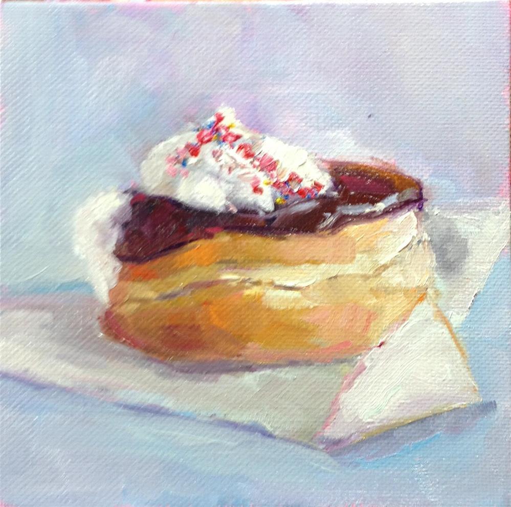 """Donut from Buffalo"" original fine art by Carol Josefiak"