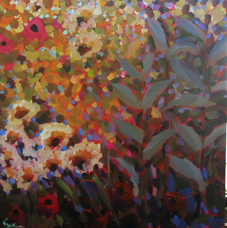 """""""WILD GARDEN"""" original fine art by Dee Sanchez"""