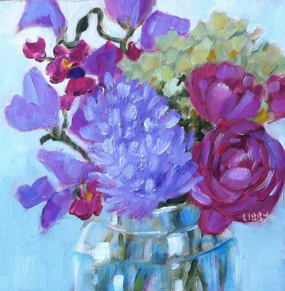 """""""Shades of Violet"""" original fine art by Libby Anderson"""