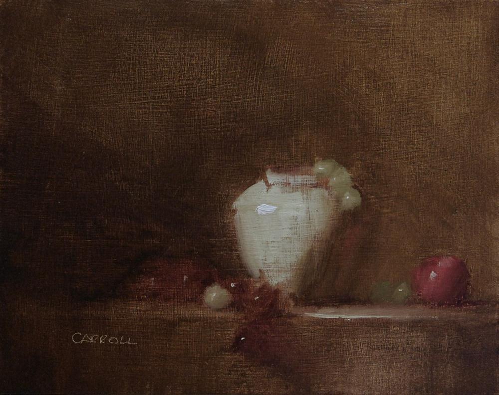 """Cream Vase"" original fine art by Neil Carroll"