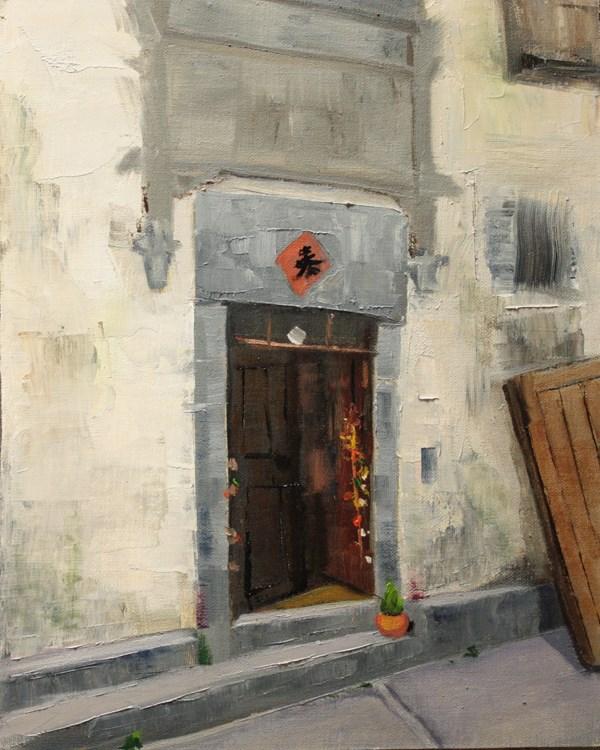"""""""Xidi Doorway"""" original fine art by Jane Frederick"""