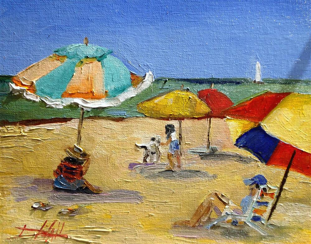 """""""At the Beach No 2"""" original fine art by Delilah Smith"""