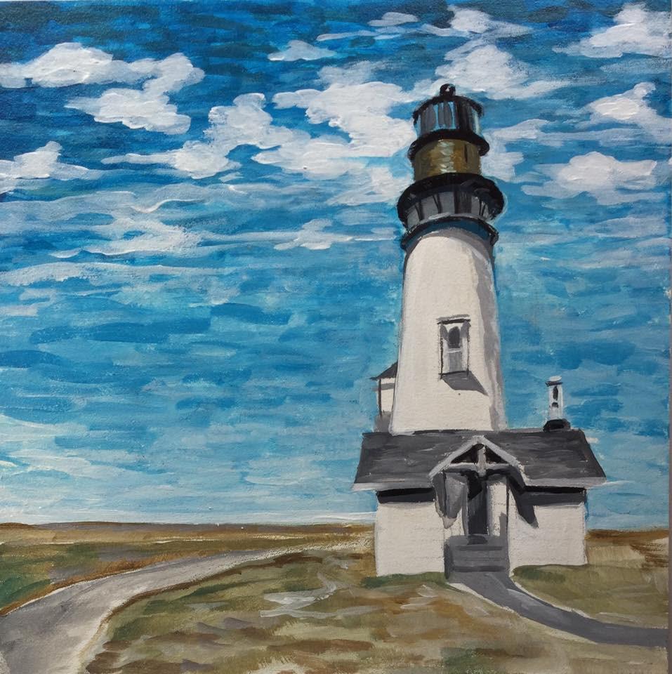 """""""Lighting the Way"""" original fine art by Lauren Kuhn"""
