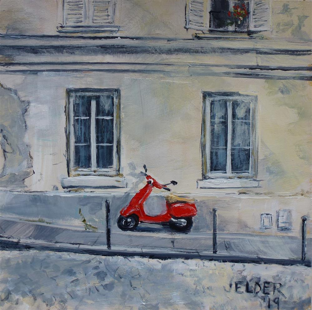 """Paris No. 116"" original fine art by Judith Elder"